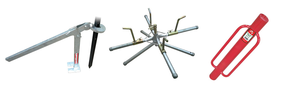 Fencing Tools - Post Lifter, Wire Spinner, Post Driver